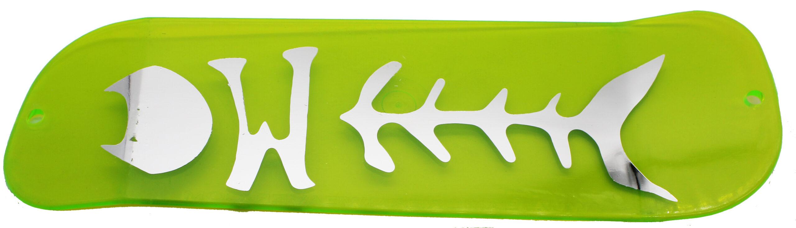"11"" Light Green Chrome Fish"