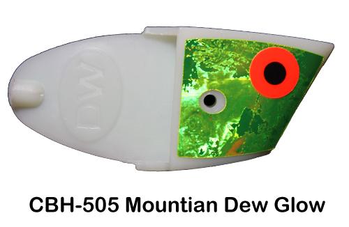 CBH505 Cutbait Head Mtn.Dew Glow
