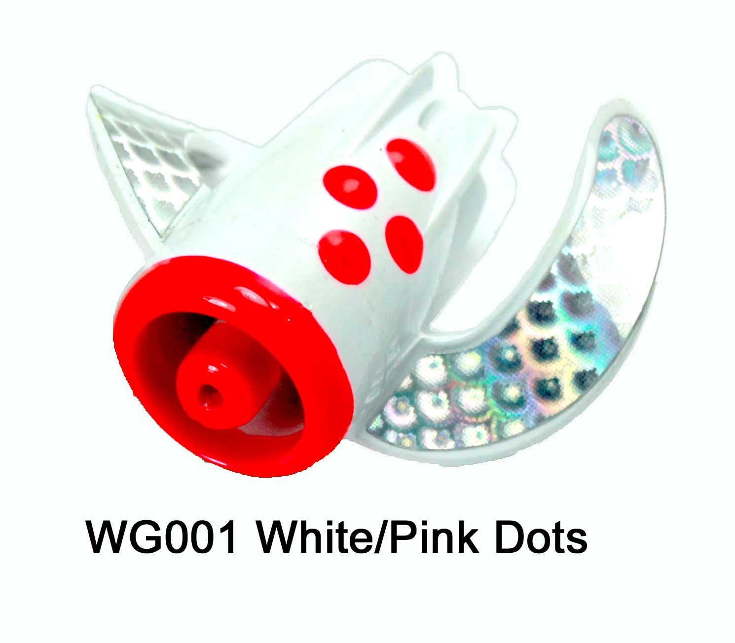 WG001 WhirlyGig White/Pink Dots