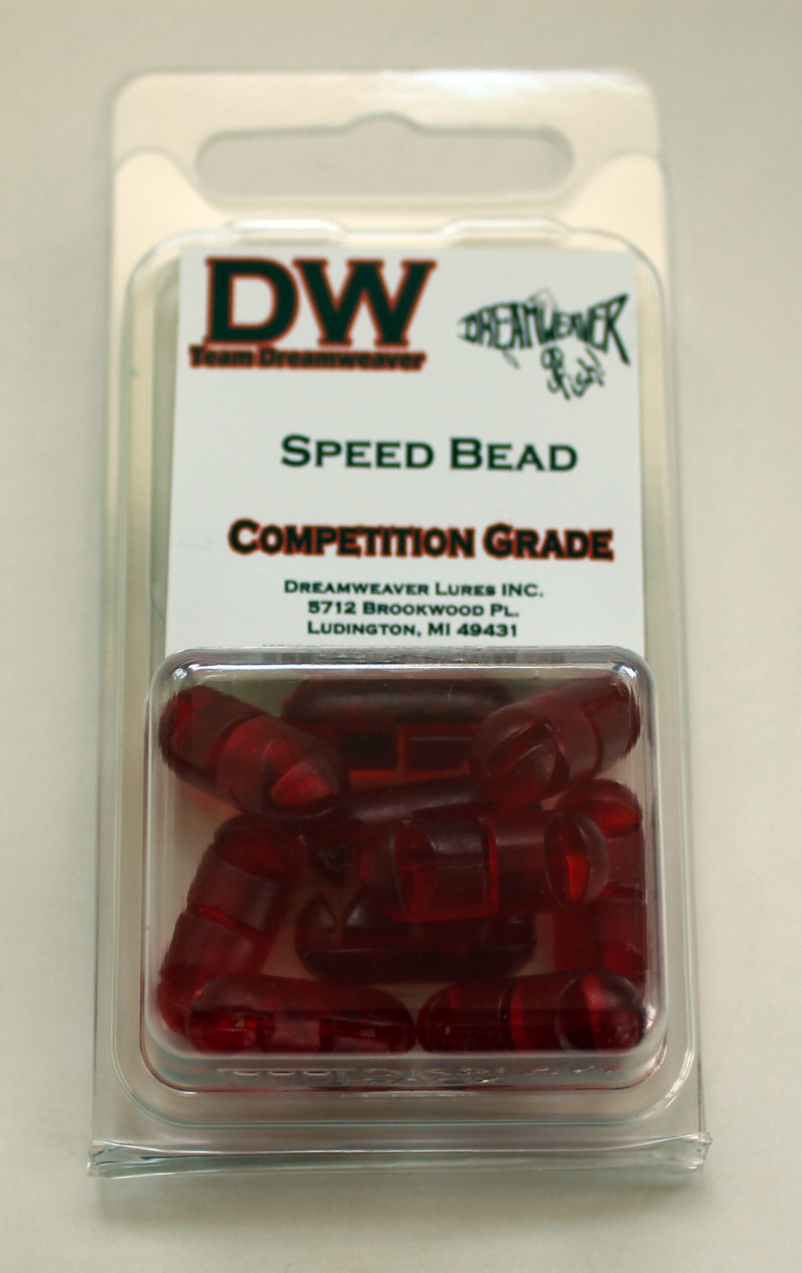 10 Pack Speed Bead Red