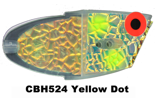 CBH524 Cutbait Head Yellow Dot