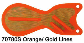 SD70780-6 Orange  -  Gold Lines6 inch Spindoctor