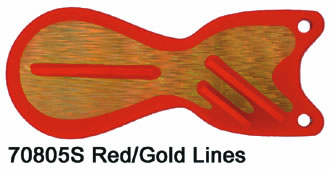 SD70805-6 Red  –  Gold Lines