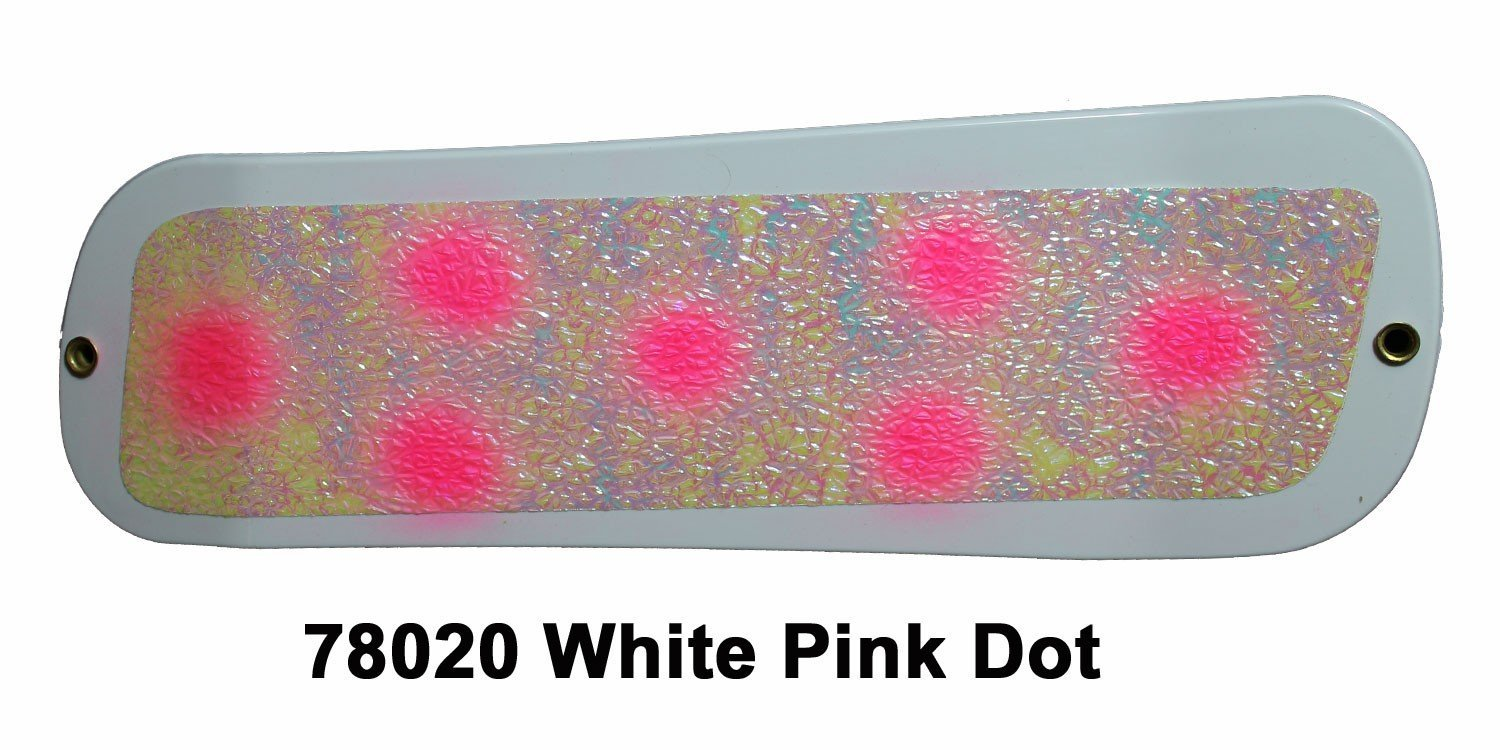 DC19 Paddle 8 -White-Pink Dots
