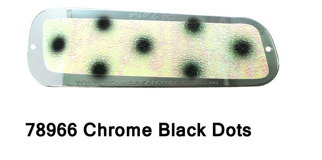 DC Paddle 11 -Chrome Black Dots
