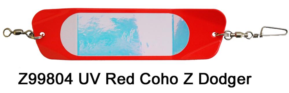 Z99804 UV Red Coho Z Dodger