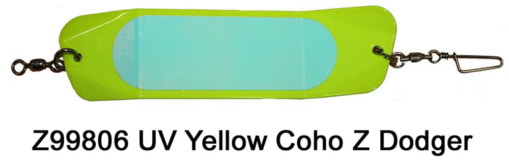 Z99806 UV Yellow Coho Z Dodger