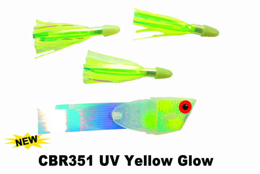 CBR351 Cut Bait Rig UV Yellow Gl