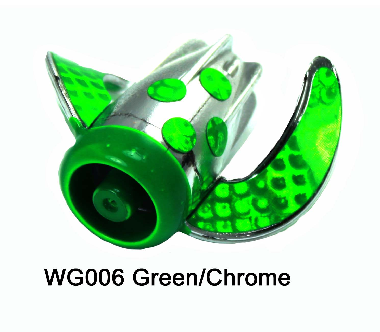 WG006 WhirlyGig Green/Chrome