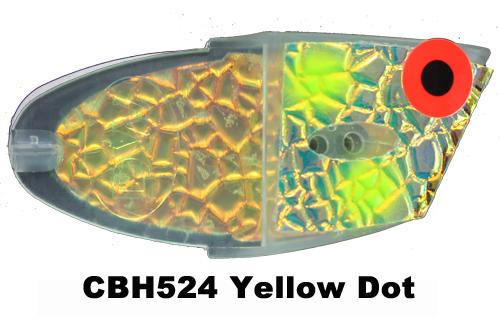 CBH524 Cutbait Head Yellow Dot
